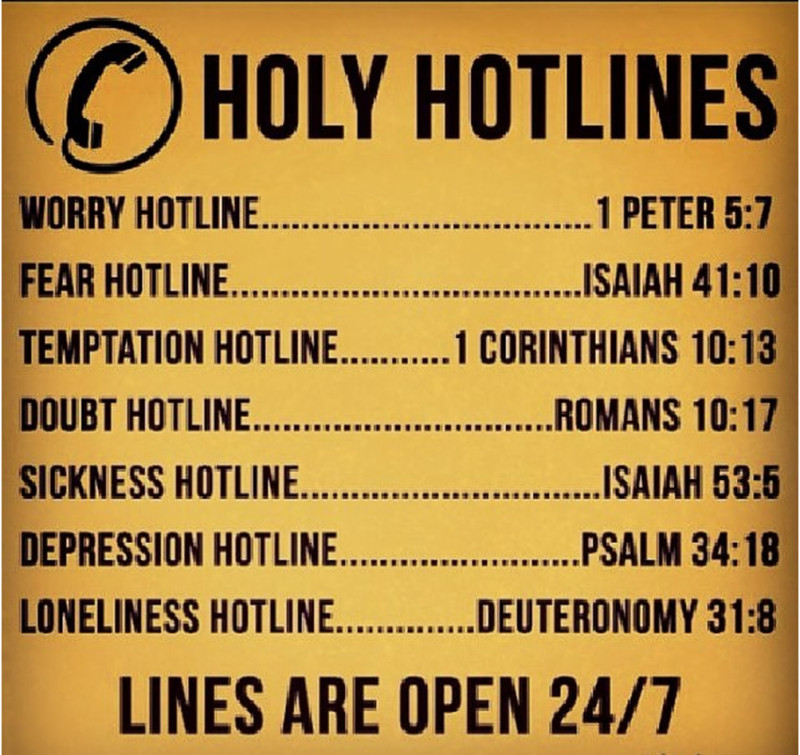 Hotlines scriptures